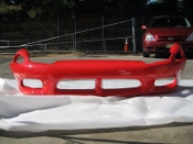 1996-1998 OEM MITSUBISHI 3000GT RED FRONT BUMPER COVER-MR296297